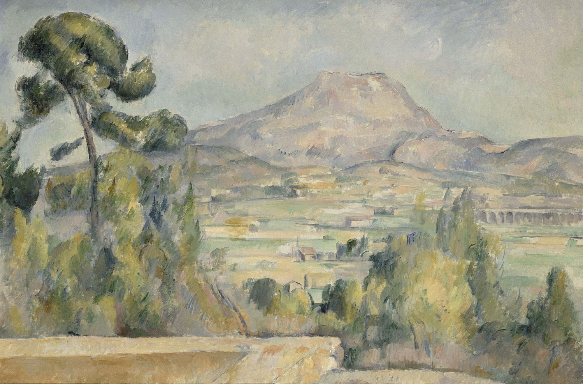 La montagne Sainte-Victoire Orsay bandeau - Cézanne